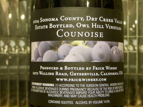 (Library) COUNOISE 2014 Estate Owl Hill Vineyard, Dry Creek Valley