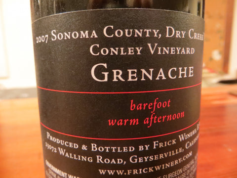 (Archive) GRENACHE VERTICAL -  6 vintages 2007 - 2012