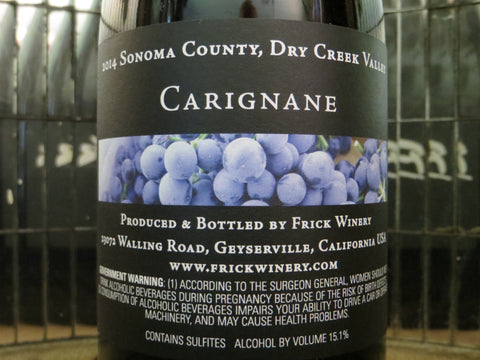 (Library) CARIGNANE 2014 Dry Creek Valley