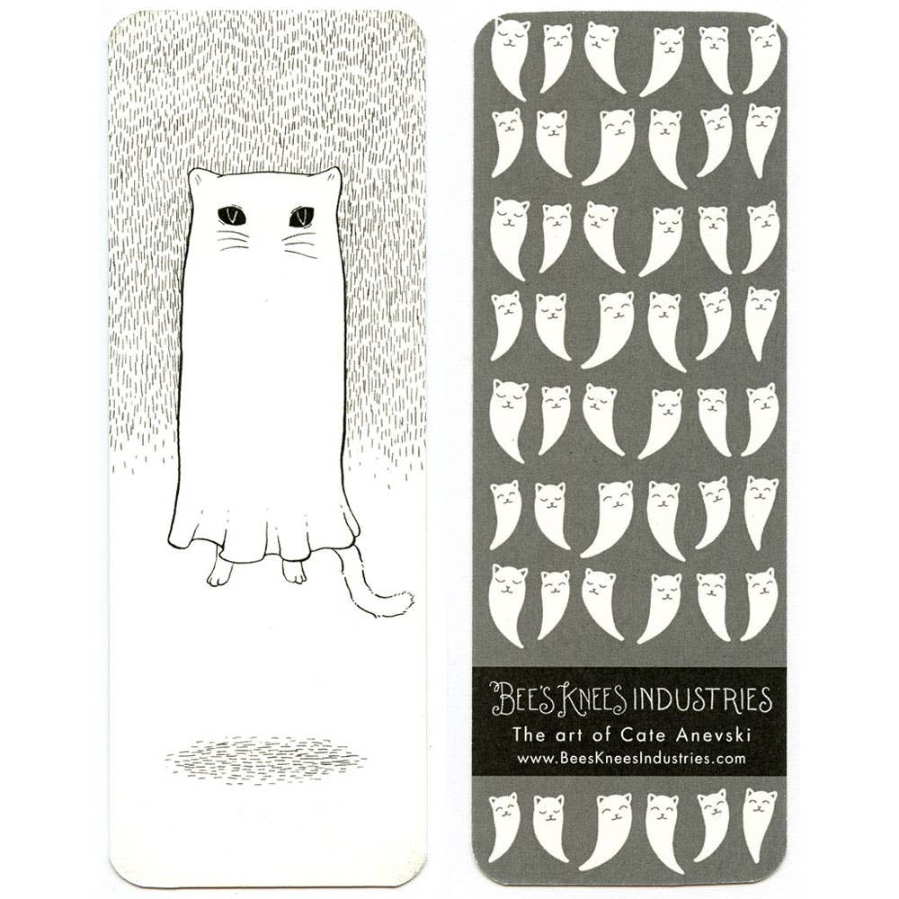 Floating Ghostie Cat Bookmark