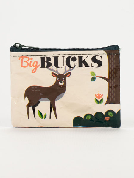 Big Bucks Blue Q coin purse