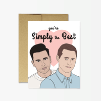Simply the Best Greeting Card
