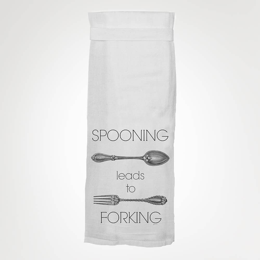 Spooning Leads to Forking Dish Towel