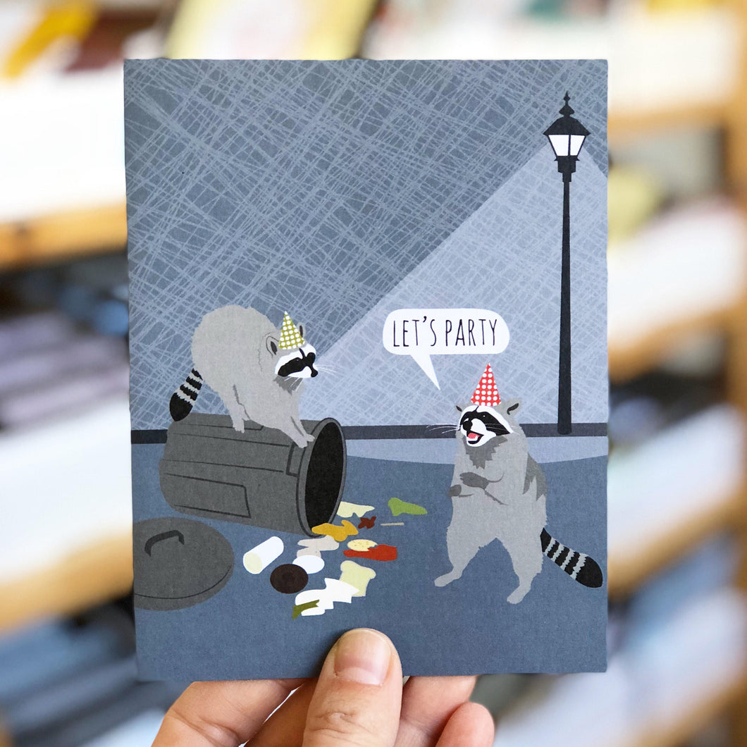 Raccoon Party Greeting Card