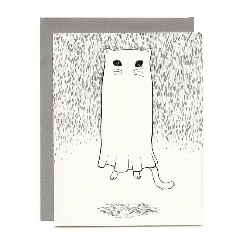Floating Ghostie Everyday Card