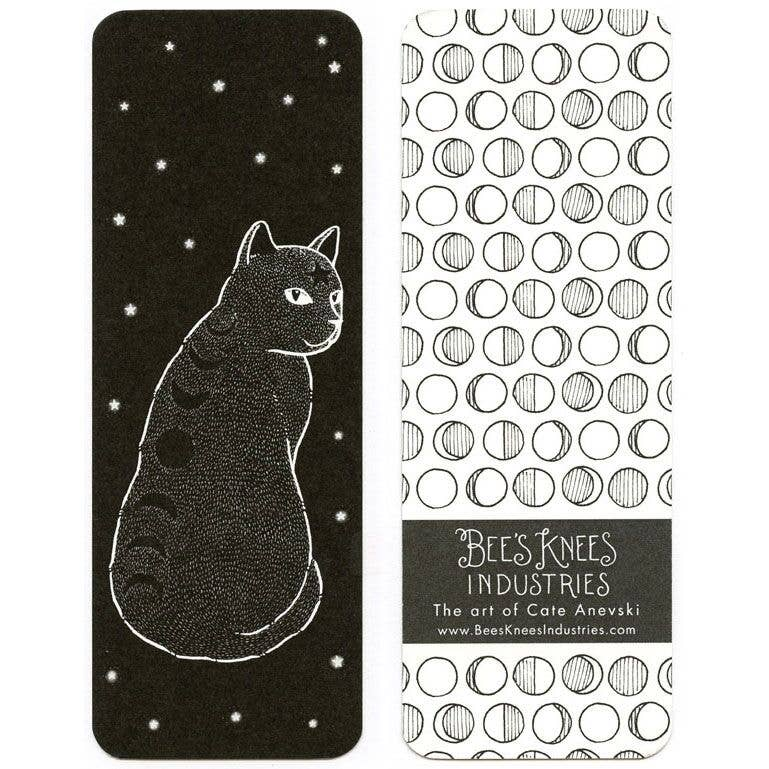 Moonphase Cat Bookmark