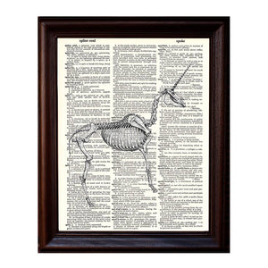 Unicorn Skeleton Dictionary Print