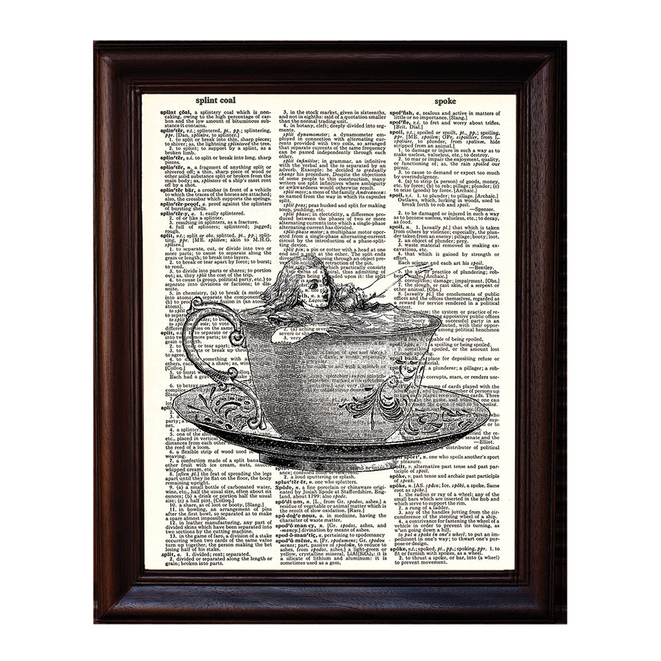 Alice and the Teacup Dictionary Print