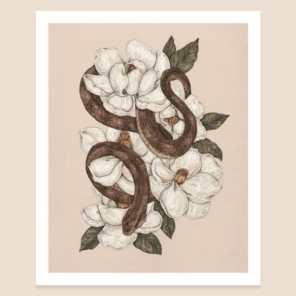 Snake and Magnolia 8x10 Jessica Roux Print