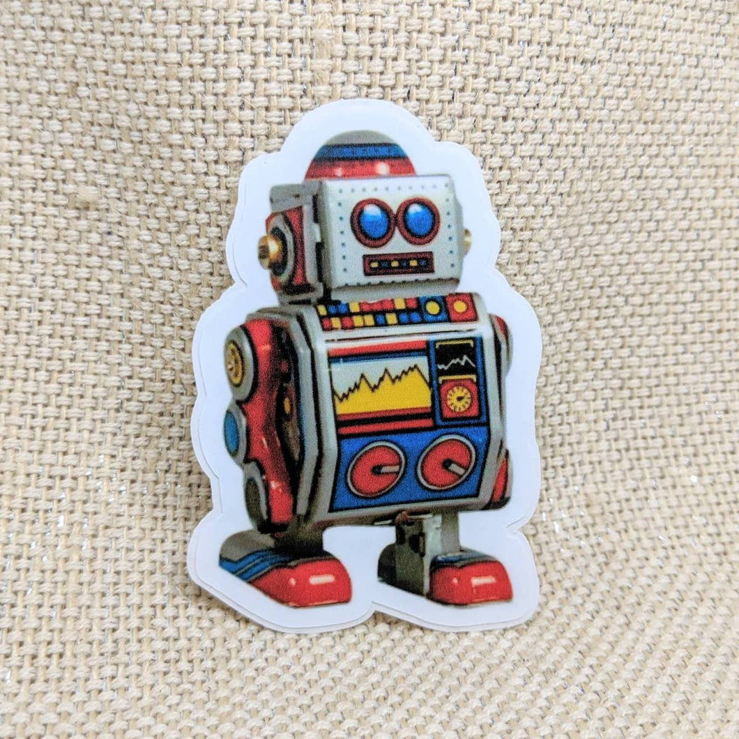 Chubby Toy Robot Sticker