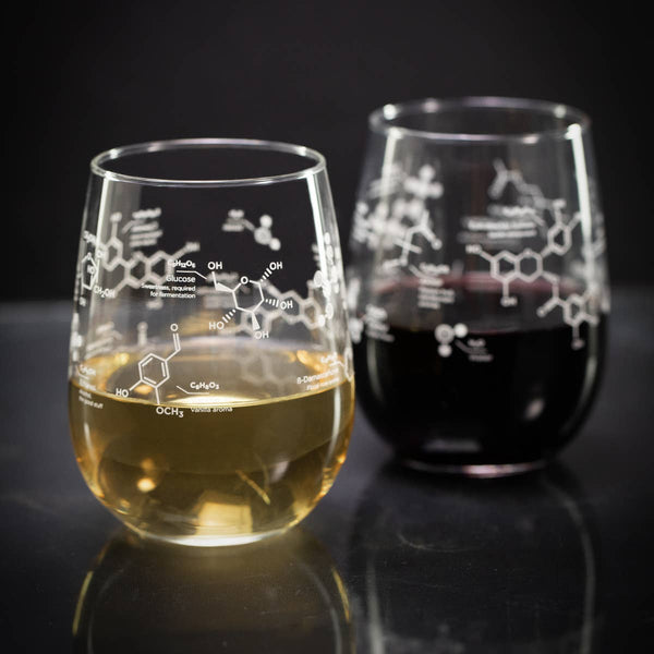The Science of Wine Stemless Wine Glasses
