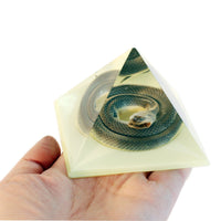 Real Glow in the Dark Snake Pyramid Paperweight