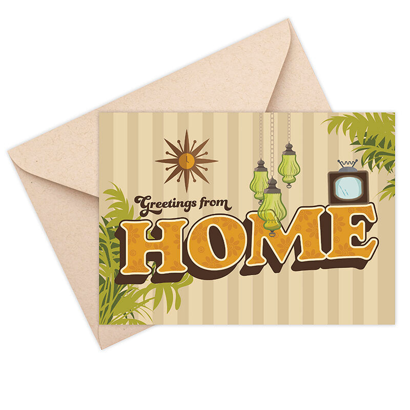 Greetings From Home Greeting Card