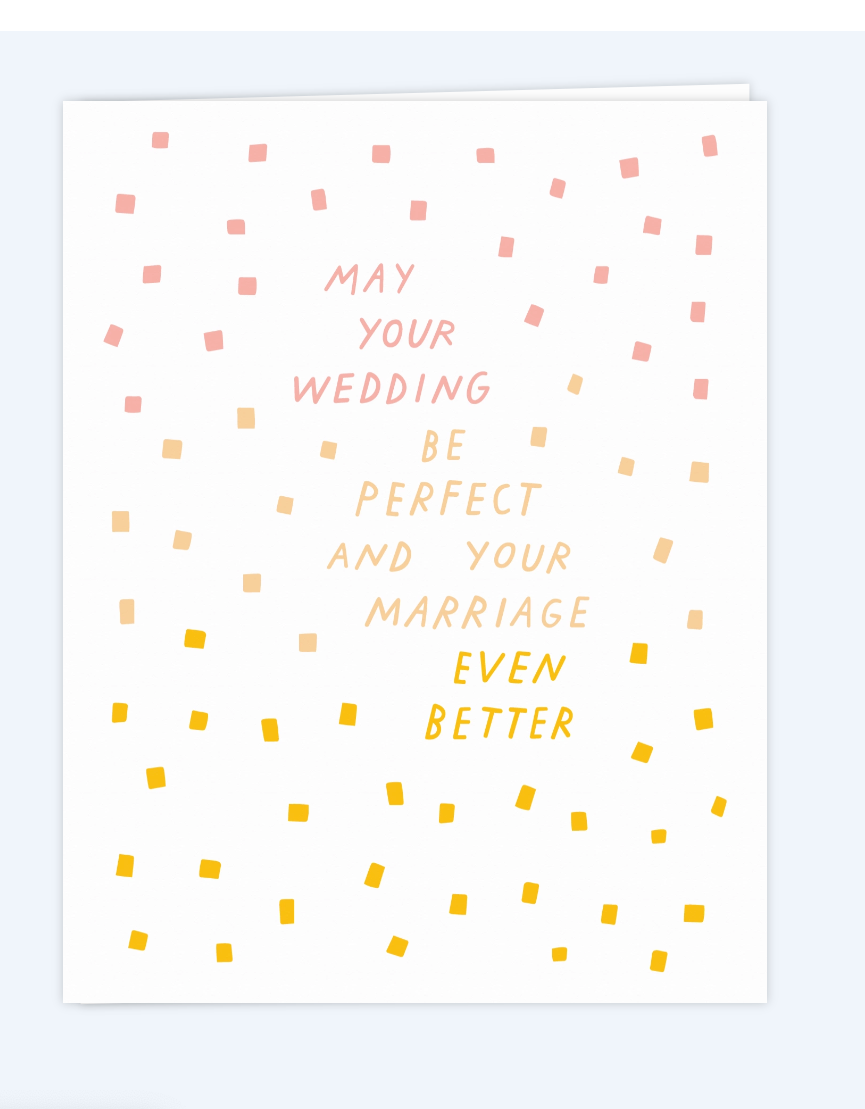 May your Wedding Be Greeting Card