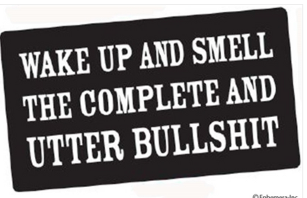 Wake Up and Smell the Complete and Utter Bullshit Sticker