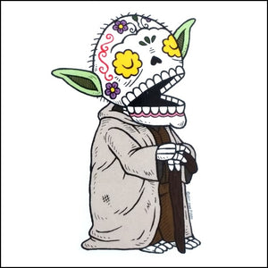 Yoda Day of the Dead Sticker