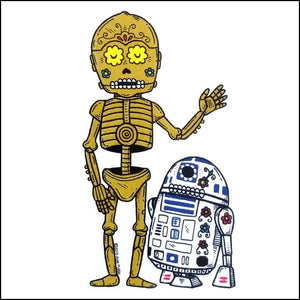 Droids Day of the Dead Sticker