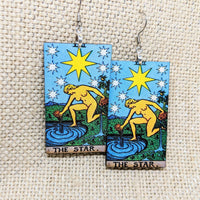 Tarot Card Earrings - The Star