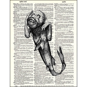Fiji Mermaid Dictionary Print