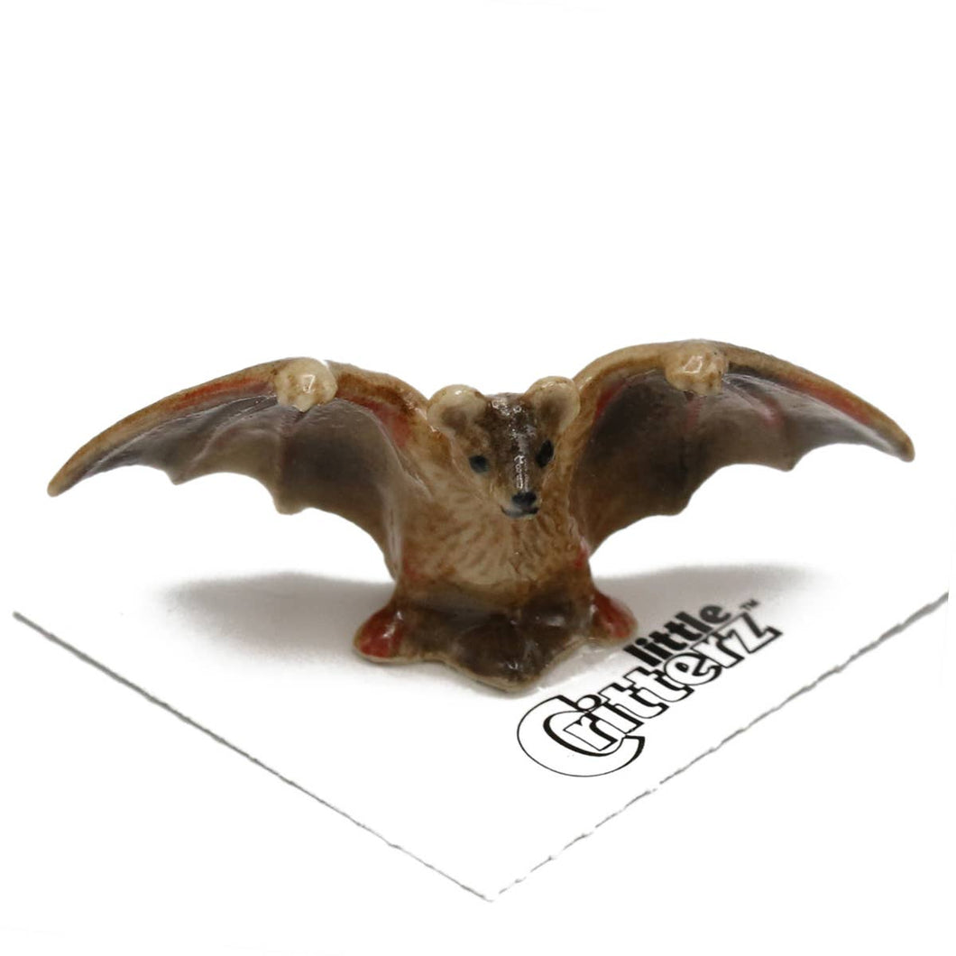Pulse the Brown Bat Little Critterz Figurine