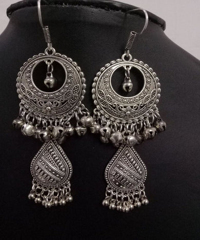 Oxidised Cocktail Earrings