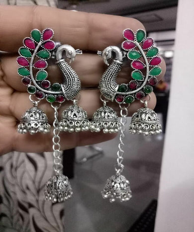 Pretty Chick Peacock Earrings
