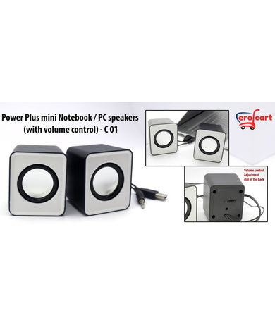 Power Plus Mini Notebook / PC Speakers (With Volume Control)