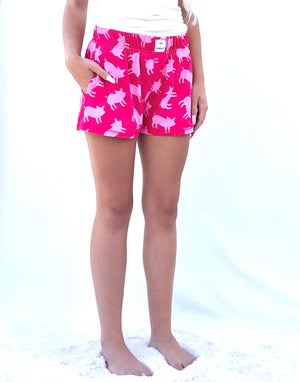 Pig (Women's Shorts with Pockets Lightweight Fabric)