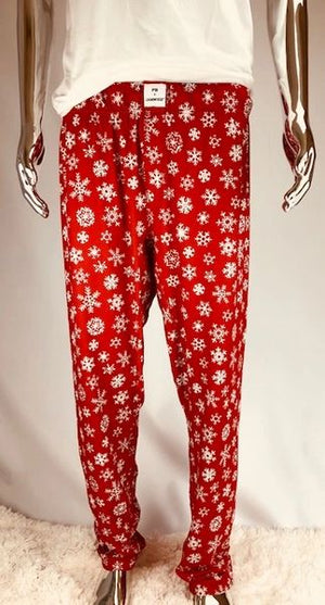 Open image in slideshow, Fleece Snowflake (Adult Unisex Pant Fleece Fabric)
