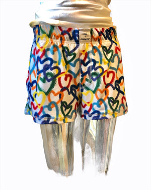 Open image in slideshow, Graffiti Hearts (Women's Shorts with Pockets Lightweight Fabric)