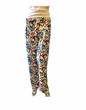 Open image in slideshow, GRAFFITI HEARTS (Adult Unisex Pant Lightweight Fabric)
