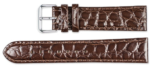 Debeer Alligator Grain Short Leather Replacement Watch Band