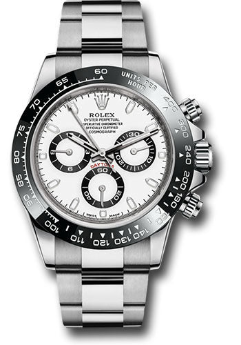 Rolex Steel Cosmograph Daytona 40 Watch - White Panda Index Dial-116500LN