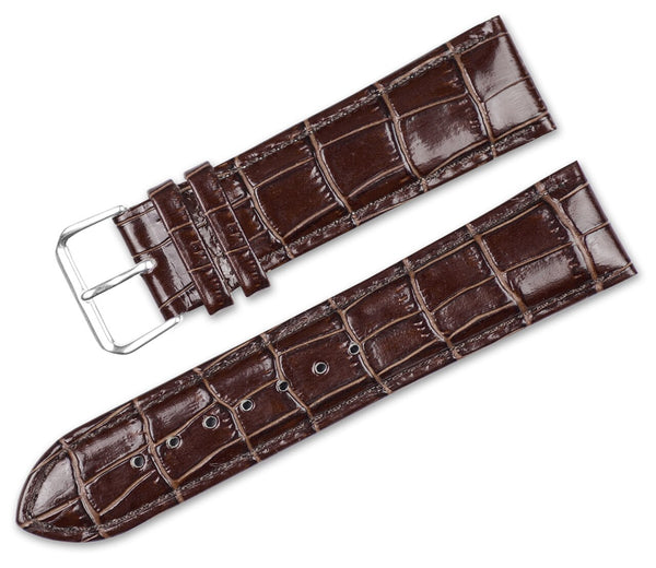 Debeer Crocodile Grain Chrono Short Replacement Watch Band
