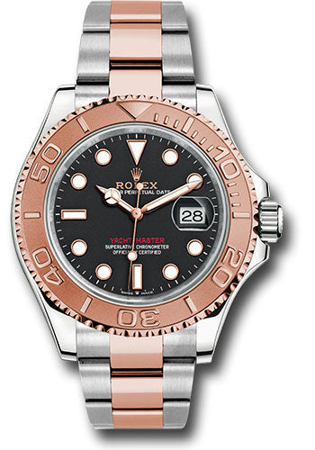 Rolex Steel and Everose Gold Yacht-Master 40 Watch - Black Dial - 3235 Movement