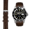 Everest CURVED END LEATHER STRAP FOR ROLEX SUBMARINER 1680 WITH TANG BUCKLE