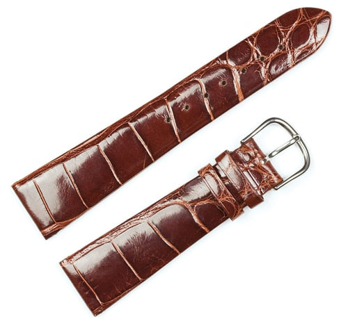 Debeer Genuine Alligator Flat Replacement Watch Band - Patek Philippe compatible