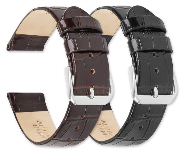 Debeer Alligator Grain Flat Watch Band