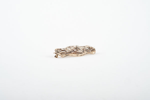 Broche - 18K Yellow and White Gold with diamonds.