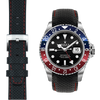 Everest CURVED END RACING LEATHER STRAP FOR ROLEX GMT MASTER I & II WITH TANG BUCKLE