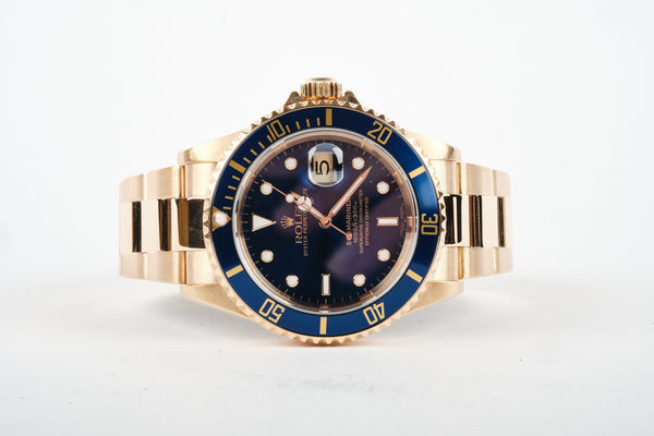 ROLEX 18K Submariner Blue - 16618