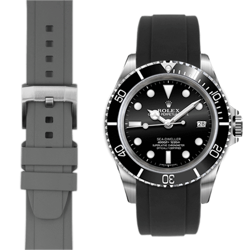 Everest CURVED END RUBBER STRAP FOR ROLEX SEA-DWELLER WITH TANG BUCKLE