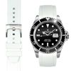 Everest CURVED END RUBBER STRAP FOR ROLEX SUBMARINER WITH TANG BUCKLE