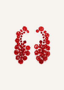 PF20 EARRINGS ANEMONE COL RED