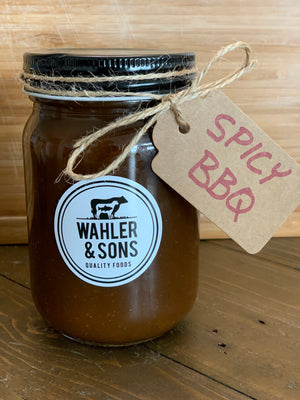 Load image into Gallery viewer, Chef Josh's Homemade SPICY BBQ Sauce - 12 oz Jar