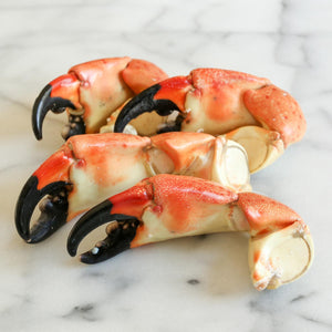 LARGE FLORIDA STONE CRAB CLAWS - 5 PIECES - WILL EXCEED 1 LB!