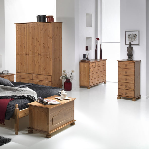 Copenhagen Range- 5 Drawer  Narrow Chest Pine
