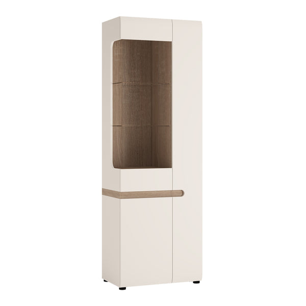 Chelsea Range- Tall Glazed Narrow Display unit (RHD)