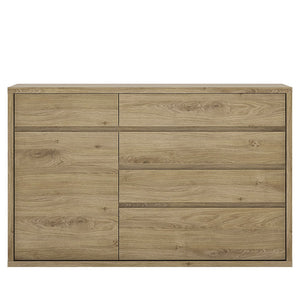Shetland Range- 1 Door 5 drawer cupboard
