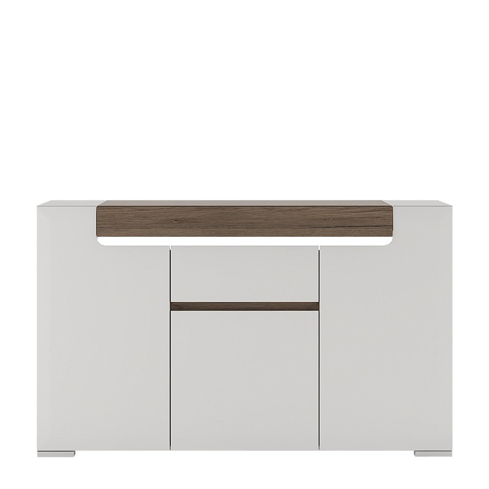Toronto Range- 3 Door 1 Drawer Sideboard (inc Plexi Lighting)